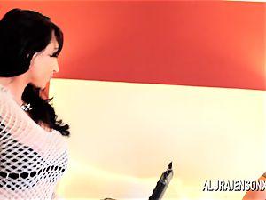 Alura Jenson mummy 3 way ravage with Brandi May