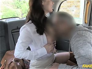 faux taxi super-steamy minx comes back for raunchy anal invasion