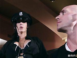 2 marvelous huge-boobed Cops Jayden Jaymes and Jenna Presley Interrogate ultra-kinky Criminal