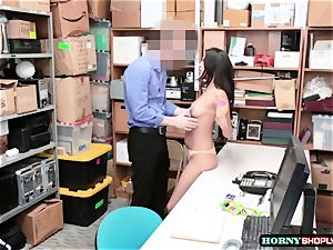 warm Latina Sophia Leone gets her vulva banged by officers giant man-meat so hard