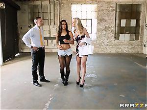 Brandi enjoy lets ho-bo Abbey Lee Brazil screw her fellow