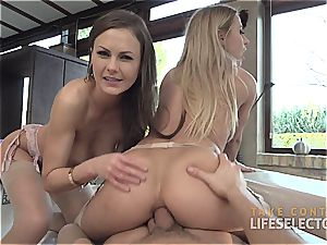 Tina Kay and Nikky Thorne - Feral ass fucking threeway
