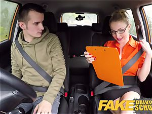 faux Driving school exam failure leads to super-steamy fuck-a-thon
