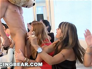 CFNM motel party with thick jizz-shotgun masculine Strippers