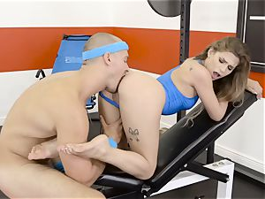 Sydney Cole takes a torrid length at the gym