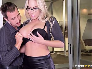 Julia Ann and Olivia Austin ravage the boss together