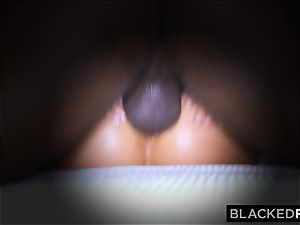 BLACKEDRAW wife likes his enormous black shaft a tiny too much