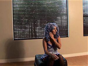 Aaliyah enjoy blue hair bts photoshoot