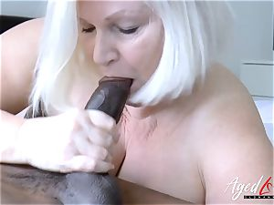 AgedLovE Lacey Starr interracial hard-core sex