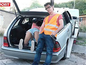 LETSDOEIT - teenage nails senior dude For Free Car Repair