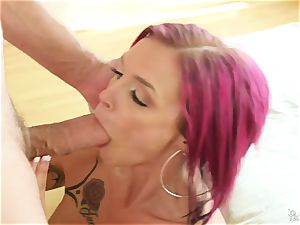tattooed emo mummy Anna Bell Peaks has red-hot voluptuous sex with her neighbor