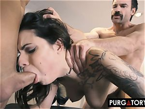 PURGATORY I let my wifey penetrate two boys in front of me