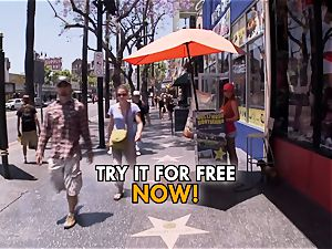hump tourist probes LA nymphs