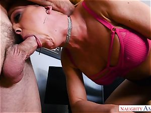 snatch humping mummy cherie Deville in the office