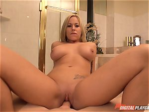 Olivia Austin plumbed in the shower