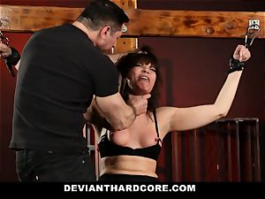 DeviantHardcore-Hot mummy rubbed and manacled To Cross