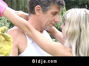 Gina Gerson gets anal invasion from an elder boy
