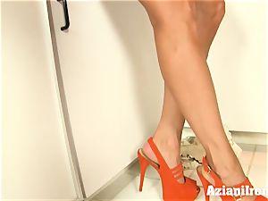 Brandi enjoy undresses, chats dirty and frigs herself