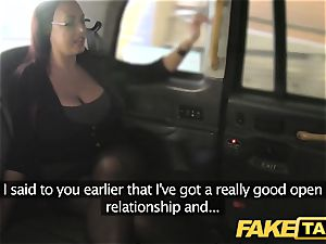 fake cab assistant lady with large melons and wet slit