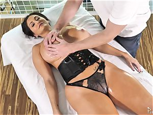 fat butt huge-titted mummy Ava Addams gets her greased snatch humped