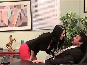 assistant Katrina Jade porks her molten manager at work