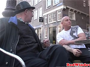 Real dutch escort doggystyled in pantyhose