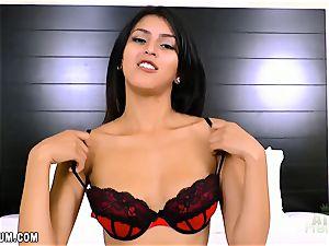 Sophia Leone in super-fucking-hot red undergarments