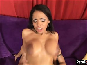honey with immense nipples gets lubed up and boinked