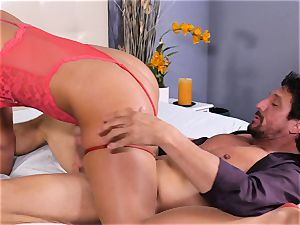kinky light-haired Phoenix Marie bouncing on top
