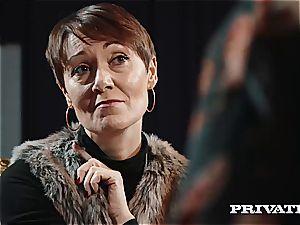Private.com - Ella Hughes, spunk in Her fur covered fuckbox