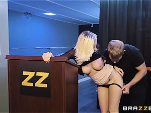Bailey Brooke gets frolic with the strung up bouncer