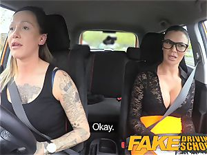 fake Driving school handsome string on fun for fresh driver