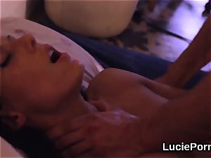 Trainee lezzy chicks get their open up poons tongued and nailed