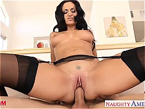 dark haired mother in pantyhose Ava Addams riding pecker