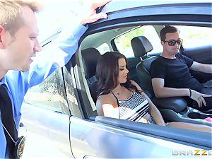 Keisha Grey getting porked across the car