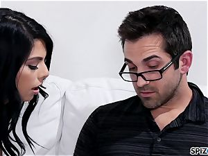 Spizoo - Gina Valentina taking her step father's schlong