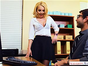 cougar Aaliyah love seduced by suspended pc technicians
