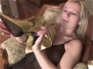 Femdom-Fetish dolls order guys to lick their footwear