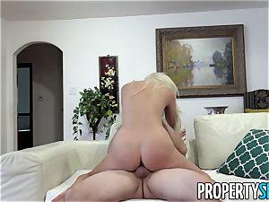 Property intercourse light-haired Landlady Xandra Sixx drills Tenant