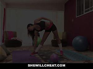 SheWillCheat hotwife girlfriend Karlee Grey pounds Trainer