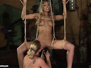 Kathia Nobili enjoy poking the steaming female with dildo