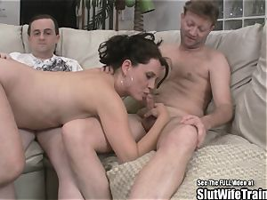 insane bitch wife 3 way guzzle bang party For husband
