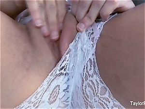 spectacular Taylor Vixen jacks in milky undergarments