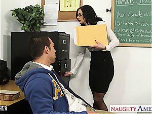 brunette educator Kendra fervor gets facialized