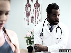 Maddy O'Reilly Exploited into big black cock buttfuck at Doctors check-up