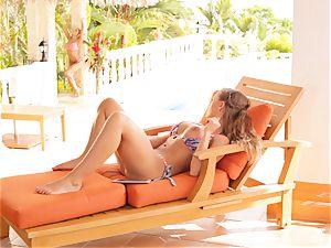 Madison Ivy and Nicole Aniston fuckbox joy in bathing suits