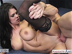 perfect Peta Jensen insane for his large trunk at the office