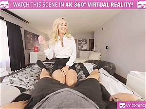 VRBangers.com-MILF is jamming a magic wand in her puss