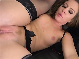 Maddy OReilly jammed utter in her undergarments