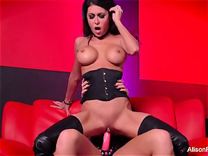 Alison Tyler fucks Jessica Jaymes with a strap-on